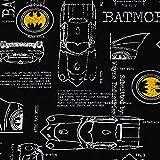 SCHÖNER LEBEN. Baumwolljersey Jersey Batman Auto schwarz