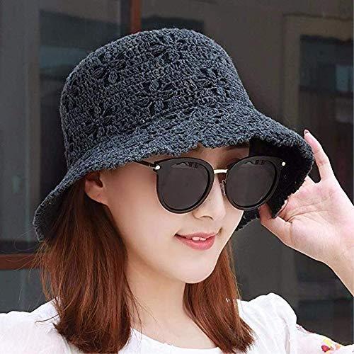 CYHWDHW Vrouwelijke hoed, zomer katoenen vizier, visser hoed, casual wastafel cap, antieke zonnehoed