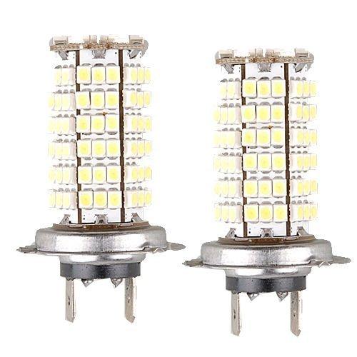 1 Paire LED 12 V de Voiture Auto 3528 Conduite Brouillard H7 Signal Ampoule Lampe 6.5 W 120 SMD Blanc 550–600 LM