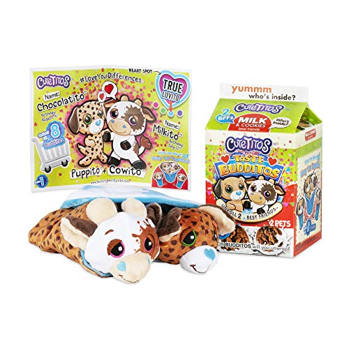 Basic Fun Cutetitos Taste Budditos Milk & Cookies - 2 Collectible Plush Mini Animals - Ages 3+ - Series 1 - Great Gift for Girls and Boys