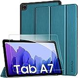 EasyAcc Funda y Protector de Pantalla Compatible con Samsung Galaxy Tab A7 10.4 2020, Case Ultra Slim Carcasa Smart Cover PU Alta Definicion Cristal Vidrio Premium para SM-T500/SM-T505 (Navy Blue)