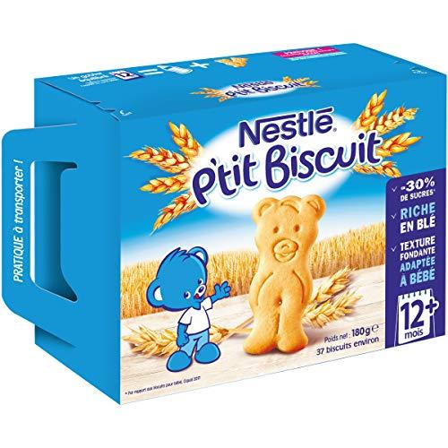 Nestlé Bébé P'tit Biscuit - Biscuits Dès 12 mois - Etui 180g