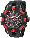 Invicta Men's Bolt Stainless Steel Quartz Watch with Silicone Strap, Black, 32 (Model: 23869)