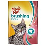 Meow Mix Brushing Bites Cat Dental Treats, Real Salmon, 4.75 Ounce Pouch