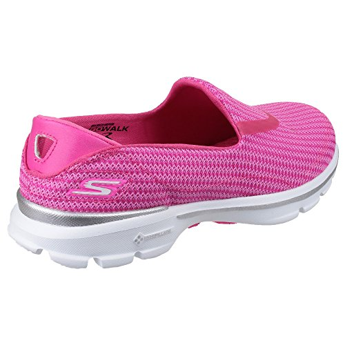 Skechers GO Walk 3, Damen Low-Top Sneaker, Rosa (HPK), 41 EU