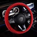 Funda Volante Coche Universal Directivo de lujo cristal de color rosa púrpura rojo del coche cubiertas de la rueda cubierto muchachas de las mujeres Diamante del Rhinestone del coche en el volante Acc