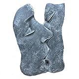 Steinfigur Maske Frau Mann Küssend Gesicht zum Hängen Steinguss grau Frostfest Wandbild Relief