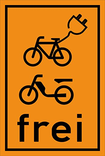 Melis Folienwerkstatt sticker schild - E-bikes bromfiets vrij - S00050-070-E