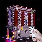N-brand Kit De Iluminación LED para La Sede De Firehouse Set Compatible con Lego 75827 Modelo De Bloques De Construcción (LED Solo Incluido, Sin Modelo),RC