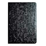 para iPad Mini5 7,9 Pulgadas Caso De La Funda De Piel De Vaca, Cubierta De Folio De Cuero De Vaca, Cubierta De Cuero Genuino, Cobertura Magnética Delgénico, Cubierta De Sueño con Microfibra, Black 1