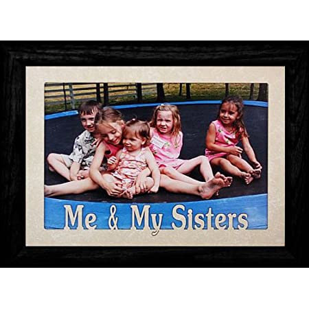 5x7 JUMBO ~ SISTER Photo Frame ~ Holds a 5x7 Photo ~ Christmas ~ Birthday ~ Wonderful Keepsake Gift for SiblingsBrothersSisters