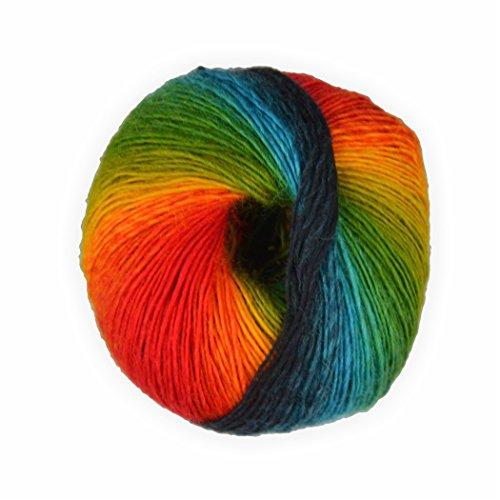 Sockenwolle mixed colors Regenbogen 50g - 200 Meter