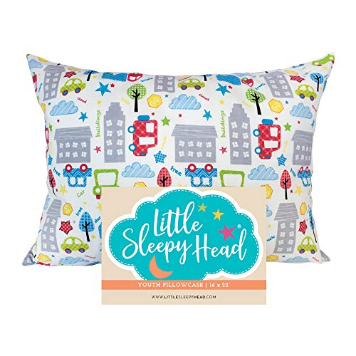 Little Sleepy Head Toddler Pillowcase - Cars, 13 x...
