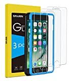 SPARIN [3-Pack Protector Pantalla iPhone SE 2020/8/7/6s, Cristal Templado iPhone SE 2020/8/7/6s, Vidrio Templado [Sin Cobertura Toda Pantalla] [9H Dureza] [Alta Definicion]