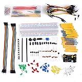 Weytoll 830 Breadboard Set Electrónica Componente Starter DIY Kit con Caja de Plástico Compatible con A-rduino U-NO R3 Component Package