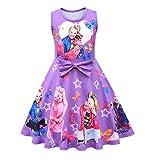 FUNTEKS Baby Girls JoJo Casual Dress Sleeveless Printing Dress for Girls Fancy Party Active Dress