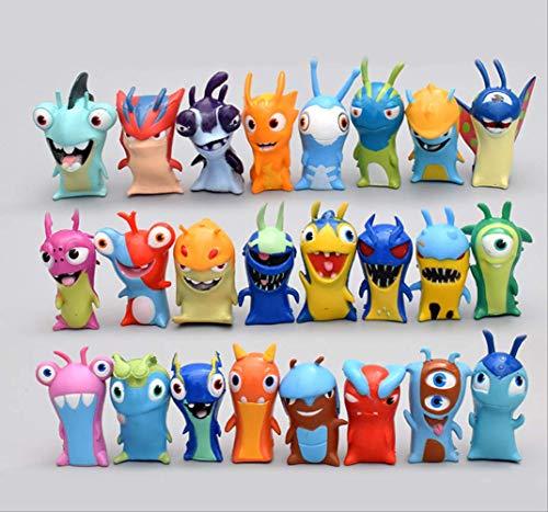 GYINK 24Unids/ Set AnimeSlugterraFigura De Acción Juguetes 5 Cm Mini Monstruo Animal Modelo PVC Muñecas Decoración para Niños