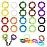 Cubre Llaves Silicona ManLee 20pcs Cubierta de Llave Colores Funda de Teclado Etiquetas Flexible Tapa de Identificación para Casa Oficina Hotel Goma Ronda