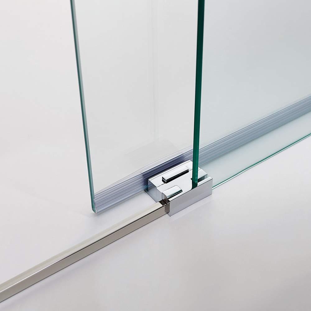 Mampara de Ducha - GME - Basic Frontal - 1 Hoja Fija + 1 Hoja Corredera - Medida - 125-130 cm: Amazon.es: Bricolaje y herramientas