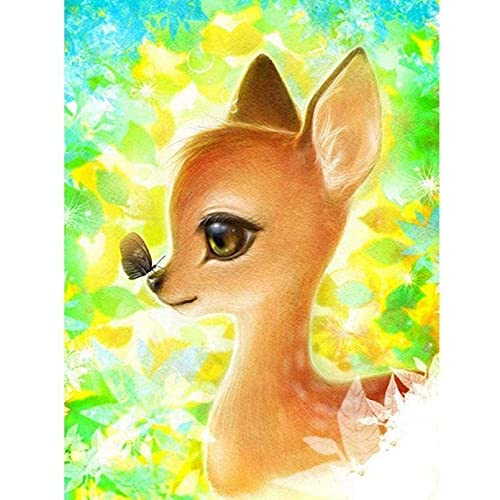 5D DIY Diamond Painting Kits Ryutp Full Drill Embroidery Pictures Mosaic Making Animal Landscape Deer Animal 40x50CM