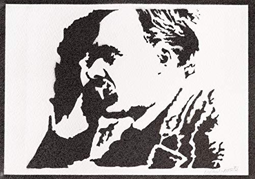 Póster Friedrich Nietzsche Grafiti Hecho a Mano - Handmade Street Art - Aesthetic Artwork