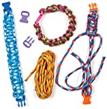 Baker Ross AG744 Paracord & Clasp Craft Kits, for Jewelry Making and Friendship Bracelet String (Pack of 6), Assorted