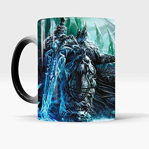 HHGHF Neue Death Knight Tasse Wow Style Figur Farbwechsel Tasse 350 Ml Frozen Throne Hitzeempfindlich Enthüllen Keramik Kaffeetasse-Tasse