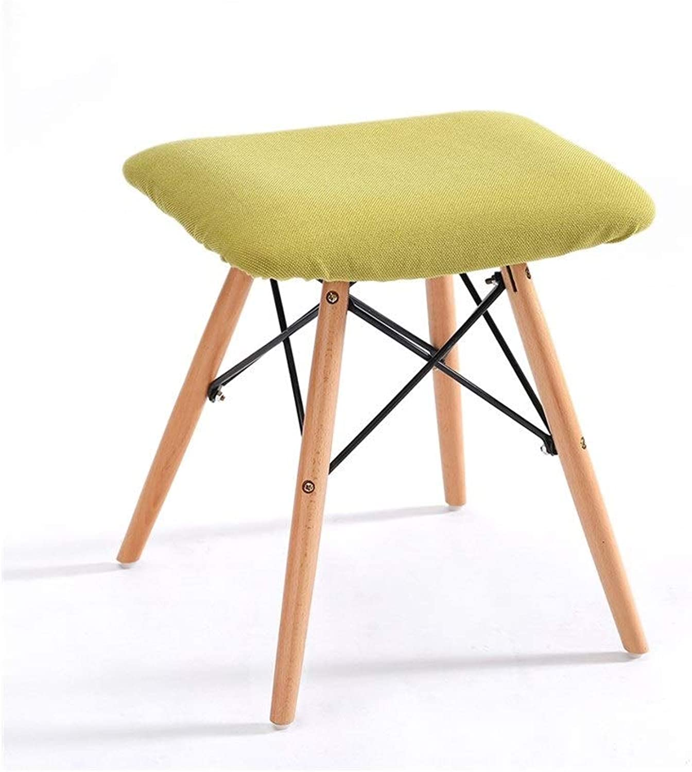 European Chair Solid Wood Stool Dining Chair Removable Fabric Leisure Home Computer Chair Stool (color   A)