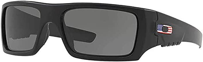 Oakley Det Cord Sunglasses / Matte Black / USA Flag (OO9253-11)