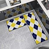 OPLJ Küchenmatte Anti-Rutsch-Türmatte Modernes Wohnzimmer Balkon Badezimmer Geometrisch bedruckter...