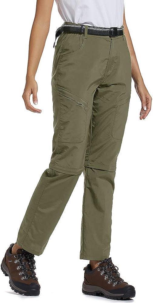 Womens Hiking Pants Quick Dry Convertible Stretch Lightweight Outdoor UPF 40 Fishing Safari Travel Camping Capri Pants