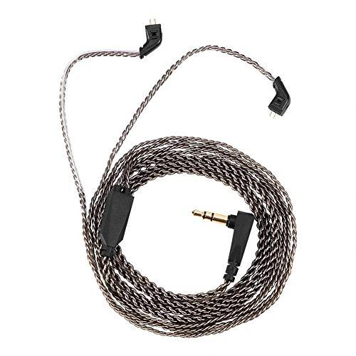 Cable de auriculares DealMux-1 de 2 clavijas, cable de reemplazo de 2 clavijas de 0,75 mm para auriculares KZ ZST ED12 ES3 ZSR, utilice un cable de cobre libre de oxígeno y plateado de alta pureza Pa