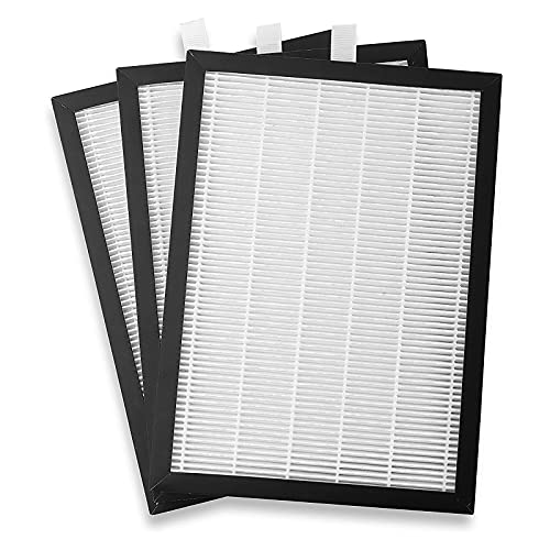 Meaco HEPA 20 Filter Replacement - True HEPA Air Filter Refill Compatible 20L Low Energy Dehumidifier Only - For Cleaner, Healthier Air- White/Black - 19 x 1 x 27 cm - Pack of 3