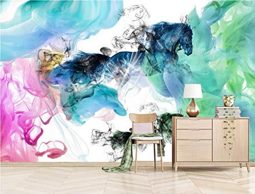 Papel Pintado 3D Murales Pintura de color - Fotomurales Para Salón Natural Landscape Foto Mural Pared, Dormitorio Corredor Oficina Moderno Festival Mural 200x150 cm - 4 tiras