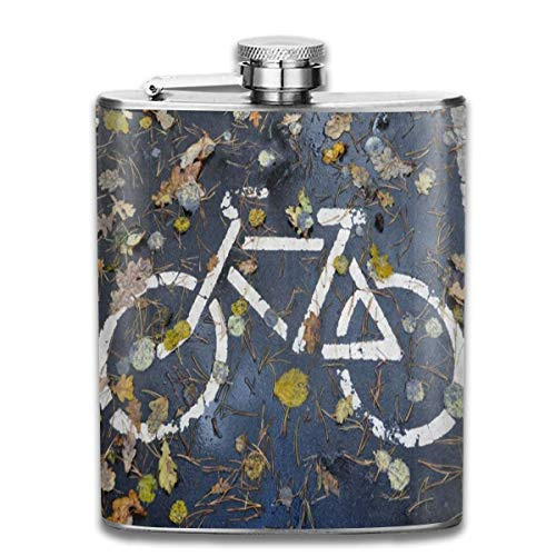 Flask Road esdoorn Leaf Bike RVS Kleine Hip Flask Mens Lekvrij Vlagon Outdoor Draagbare Flask voor Alcohol Whiskey Rum en Vodka