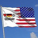 wallxxj Bandera De La Casa Alemania Fútbol Soccer Breeze Flag Yard Flag Single Layer Yard Banner Garden Flag Yard Flag 150X90Cm