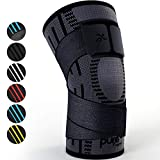 Pure Support Knee Brace Compression Sleeve Support | Patella Stabilizer for Meniscus Tear | Arthritis Pain for Running | Strap | Sports | Women | Men