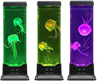 Electric Jellyfish Tank Table Lamp with Color Changing Light Gift for Kids Men Women Home Deco for Room Mood Light for Relax