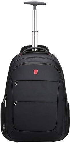 Shuzhen,Trolley Sac à Dos sacages Roulant Grande Capacité Oxford Sac de Voyage étanche Roues Affaires Valise Pour Ordinateur portable(Couleur NOIR)