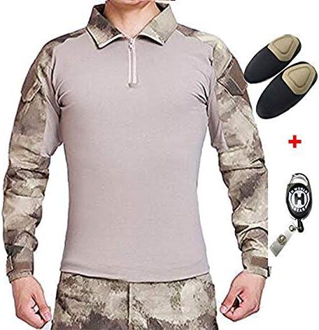 H mundo UE Taktisches caza militar Langarm Shirt con Pads Ellenbogen