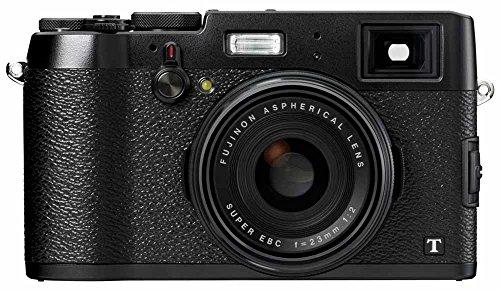"""Fujifilm X100T - Cámara compacta de 16.3 MP (Sensor X-Trans CMOS II, procesador EXR II, Pantalla de 3"""", vídeo Full HD, WiFi, Distancia Focal Fija f/2 de 23 mm), Negro y Plateado"""