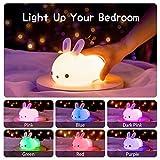 Zoom IMG-1 luce notturna bambini coniglio lampada