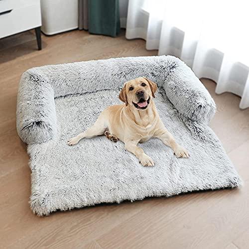 Cama de Perro, Manta para Mascotas Cojín para Mascotas Sofá cojín de Descanso para Mascotas Cama para Mascotas Lavable Protector de sofá,L C