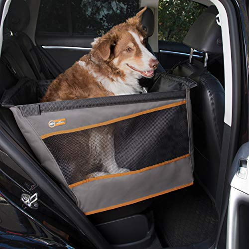 "K&H PET PRODUCTS Buckle N' Go Dog Car Seat for Pets, Gray, Large (21"" x 19"" x 19"")"