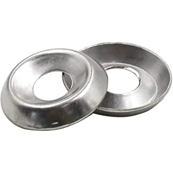 TOUHIA 50pcs #10 Finishing Washers Stainless Steel Cup Countersunk Washer