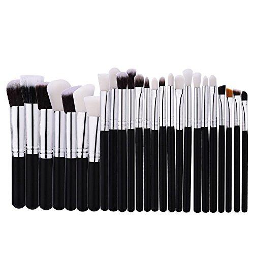 Brosse cosmétiques Profession pinceau de maquillage Set Outils de maquillage Trousse de toilette en nylon brosse cosmétiques Eye brosse 25 en 1 brosse cosmétiques (Couleur : Noir)