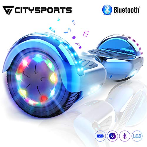 CITYSPORTS Hoverboard Scooter 6,5zoll SUV Bluetooth Overboard, Elektro Scooter Self-Balance Board 350W*2 LED Räder, für Kinder und Anfänger
