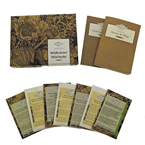 Wildkräuter - Samen-Geschenkset mit 7 wilden Heil- und Würzkräutern