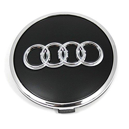 Audi 8W0601170B Radzierkappe (1 Stück) Nabenkappe Radnabenkappe Nabendeckel Felgendeckel Alufelgen, schwarz matt
