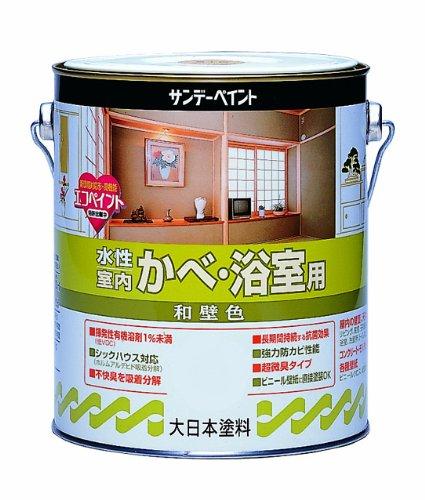 サンデーペイント 水性室内かべ・浴室用和壁色 ウジシヨク 0.7L